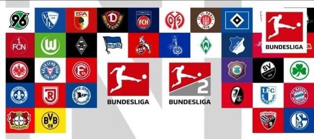 Biểu tượng của tất cả đội bóng tại Bundesliga
