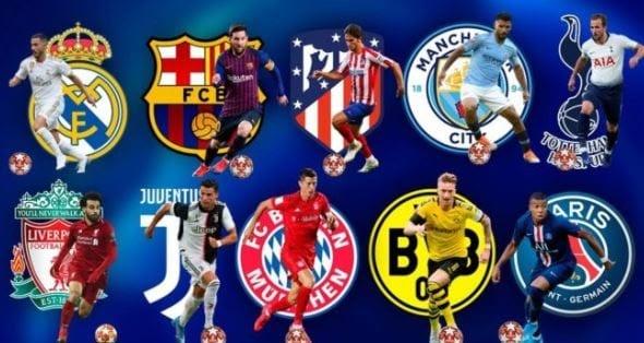 Các đội bóng tại giải đấu năm nay tại Champions League