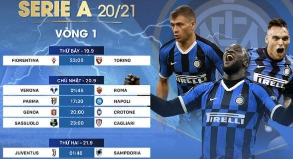 Lịch thi đấu tuần Serie A tuần này